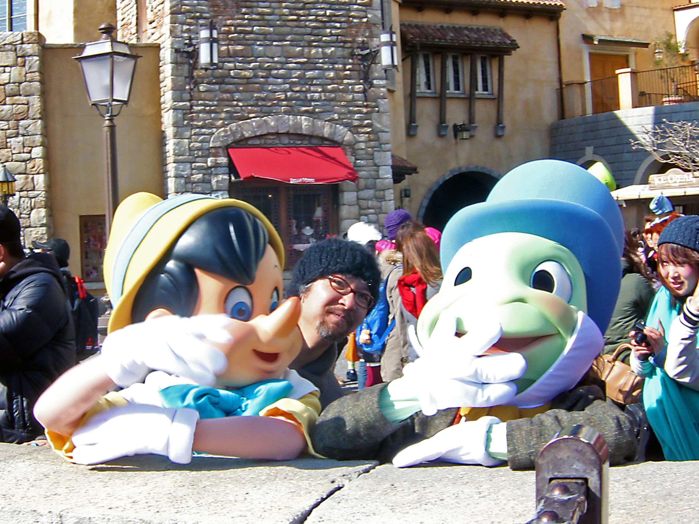 Pinocchio & Jiminy Cricket with Kazupico