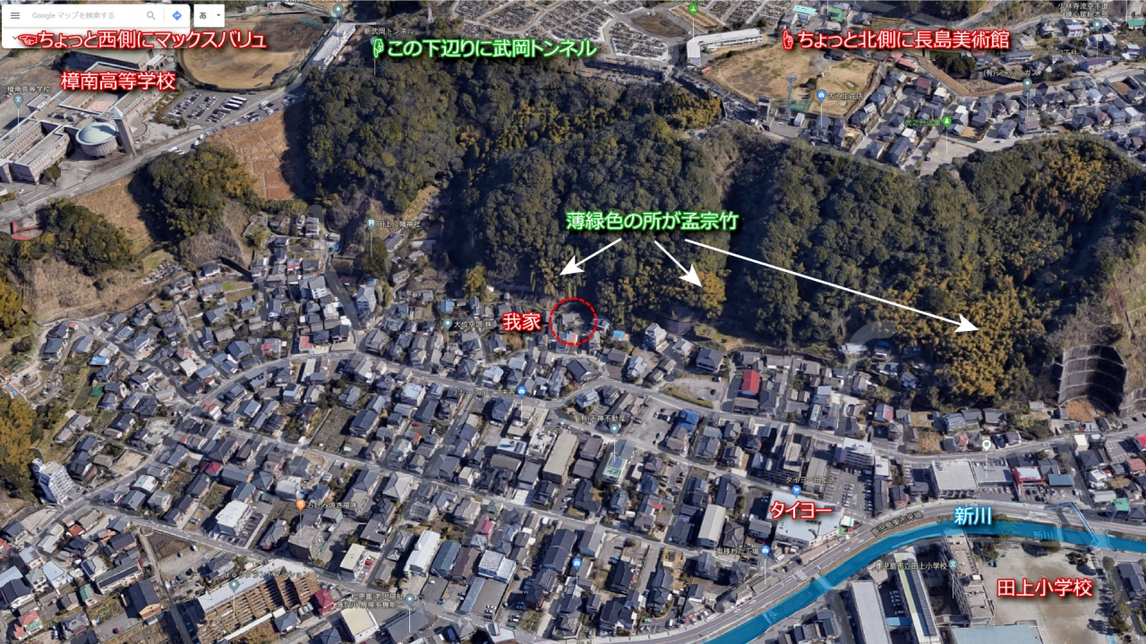 Googleマップで見る我家